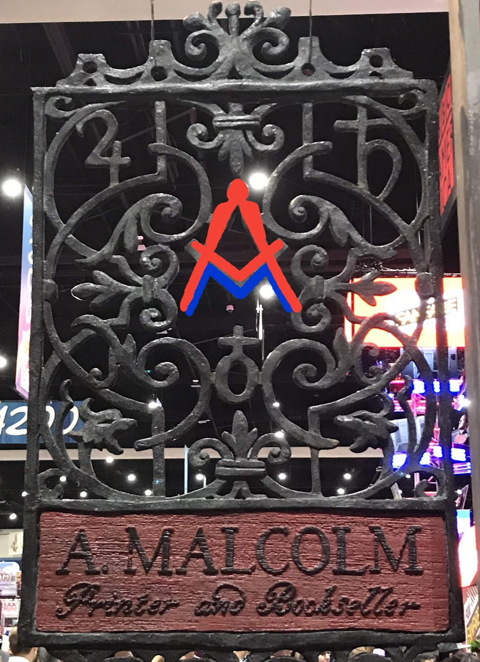 The Signs And Symbols In A Malcolms Print Shop Sign Outlander Cast