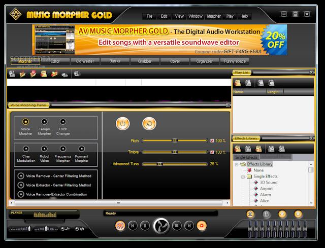 AV Music Morpher 5 Free Download Full Version With