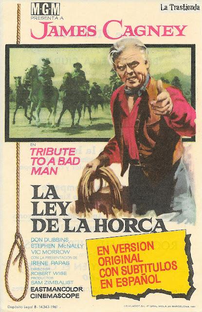 La Ley de la Horca - Programa de Cine - James Cagney - Irene Papas
