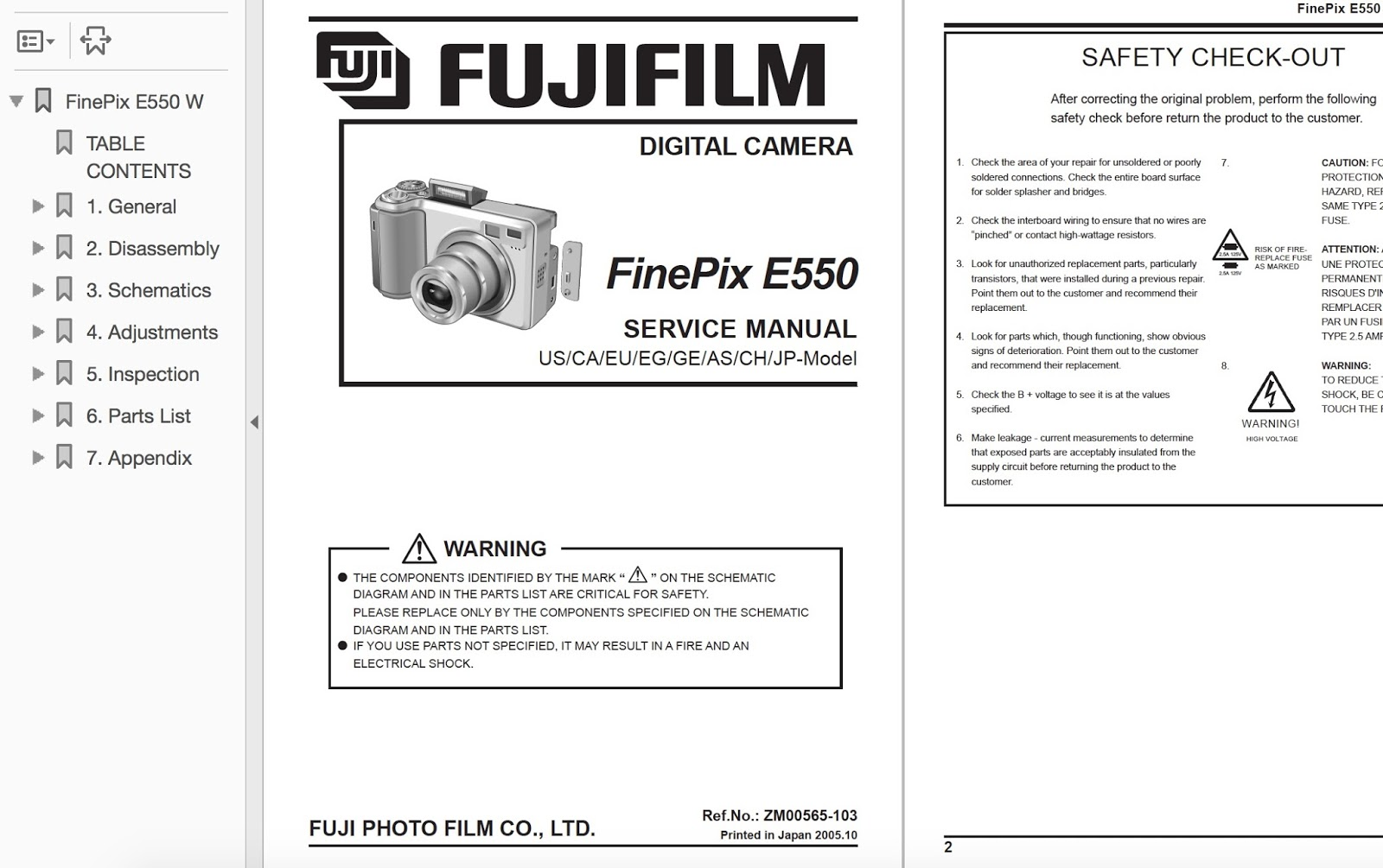 Repair your Camera for Panasonic, Nikon & Fujifilm