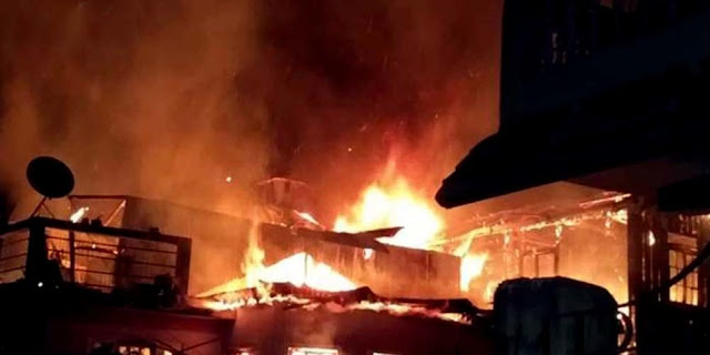 British age building gutted in fire kurseong