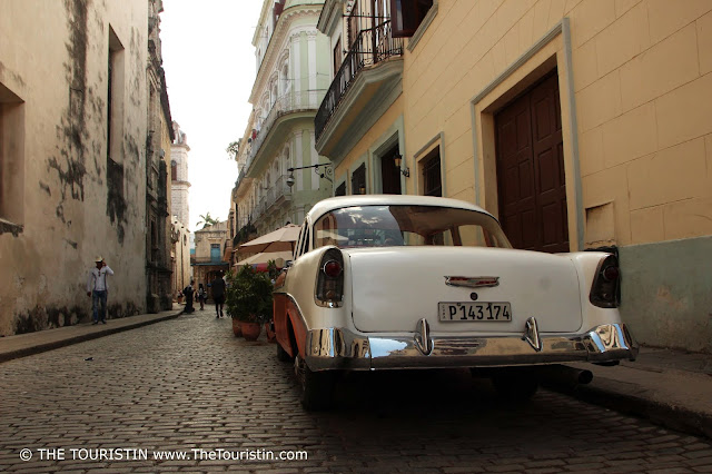 At Catedral de la Habana Cuba Vieja The Touristin  classic car
