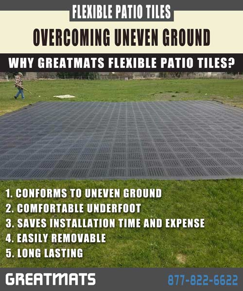 Greatmats flexible patio tiles inforgraphic