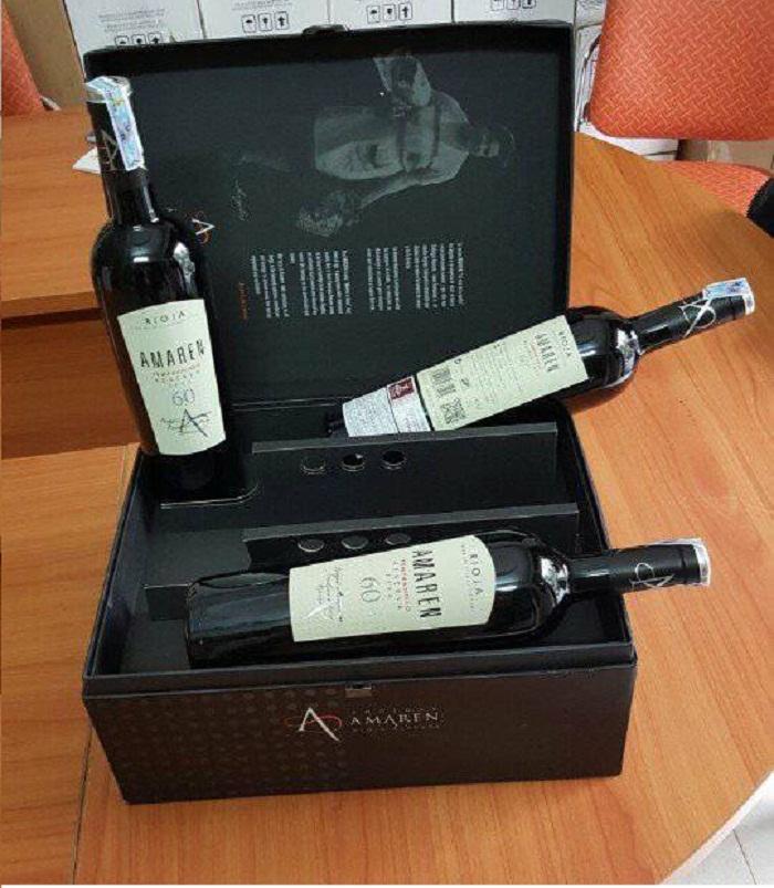 Rượu vang đỏ Amaren 60 đóng 3 chai trong hộp sang trọng