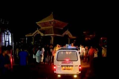 Vídeo mostra explosões de fogos de artifício em templo na Índia que deixaram mais de 100 mortos