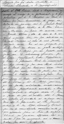 Fragmento nº 5 del Acta del Club de Ajedrez Lérida de 19 de febrero de 1944