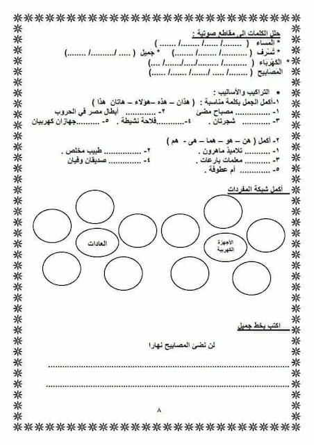 اقوى مراجعة نهائية فى اللغة العربية للصف الثالث الابتدائى الترم الثانى روعة جدا لن تجد لها اى مثيل 8