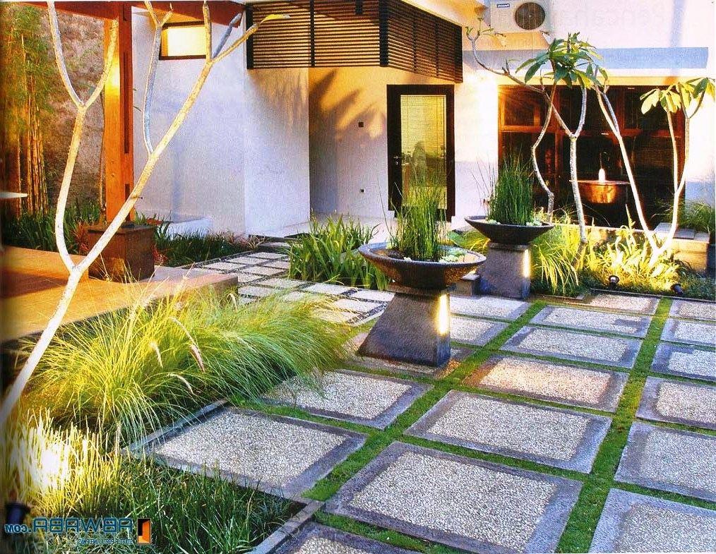 30 Desain Taman Rumah Mewah Minimalis Modern Tips Menatanya