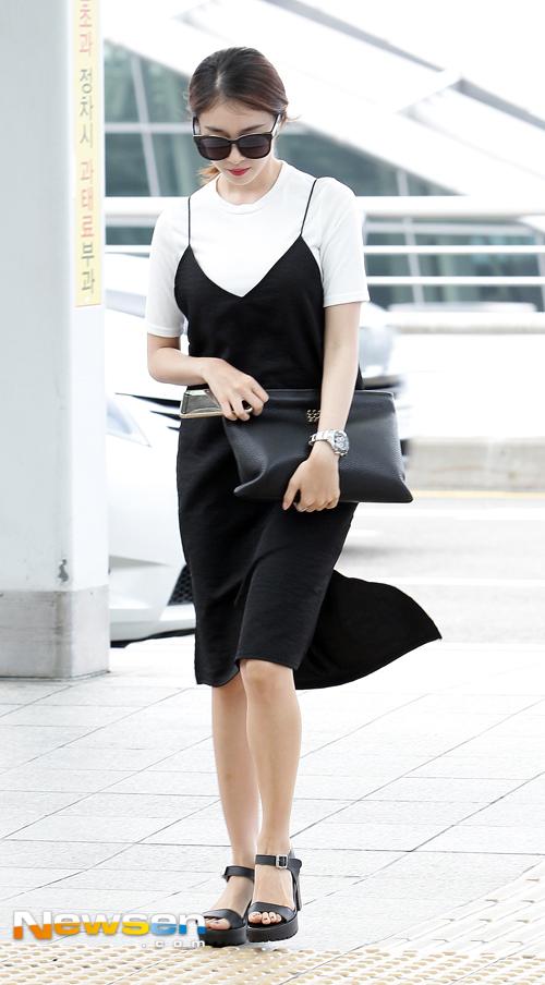 airport fashion tara hyomin jiyeon and eunjung are