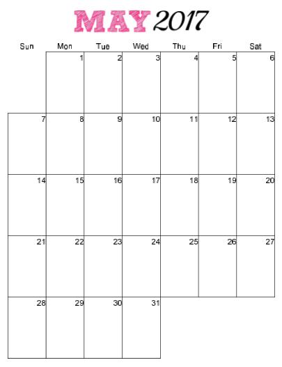 vertical monthly calendar