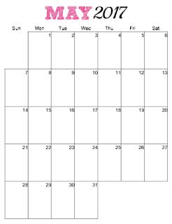 free printable vertical 2017 calendar