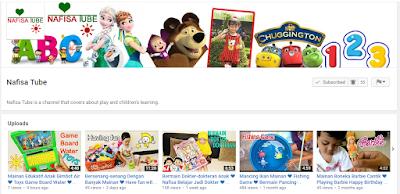 Nafisa Tube Salah Satu Channel di Youtube Yang Menghibur Anak-anak