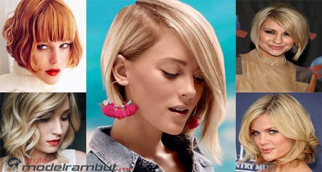 Model Rambut Blonde Bob Wanita Korea