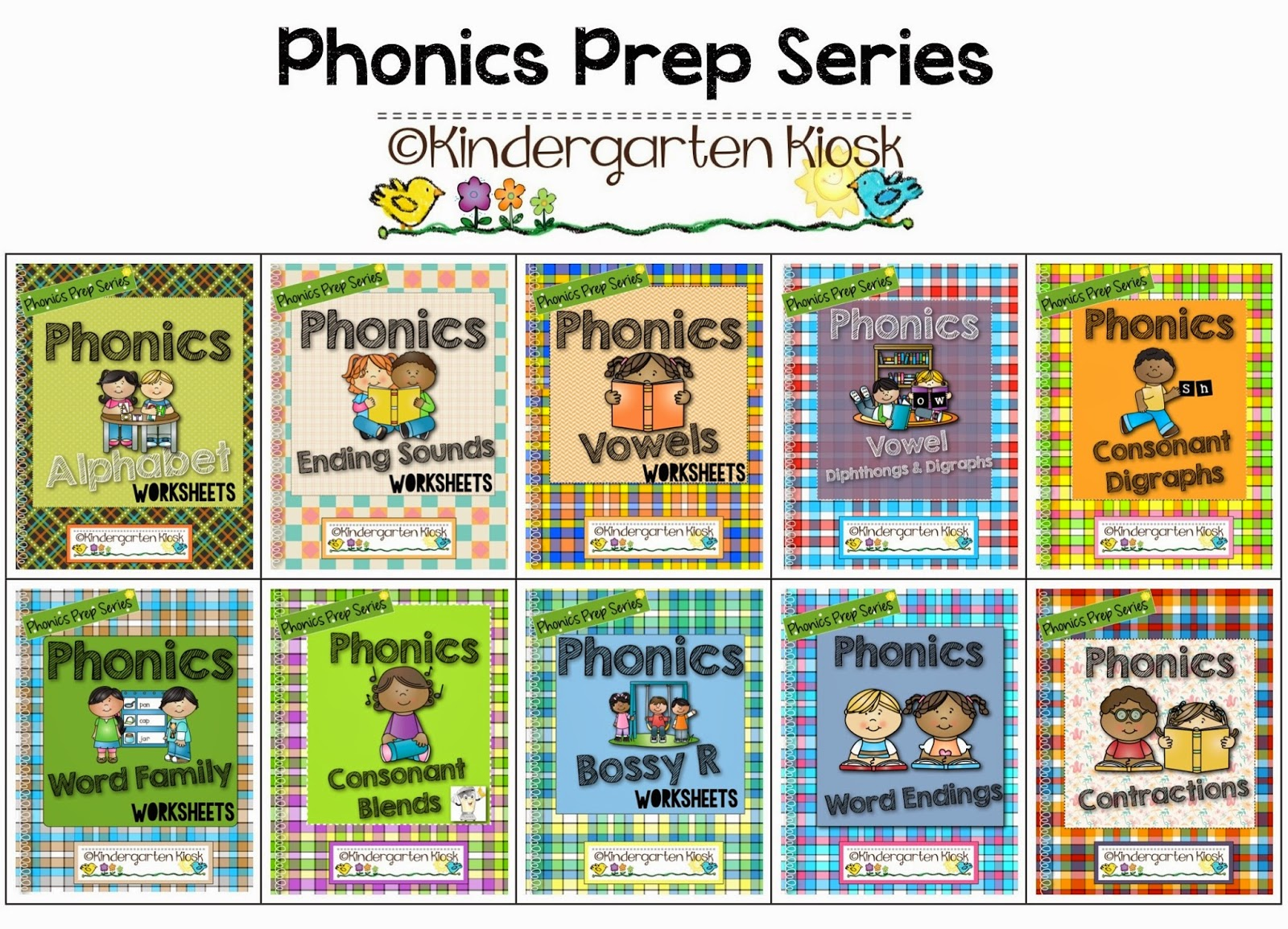 Kindergarten Kiosk Phonics Consonant Blends For Early