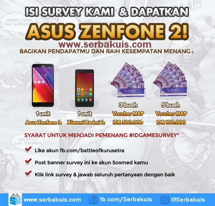 Indonesia Game Survey Berhadiah Asus Zenfone 2