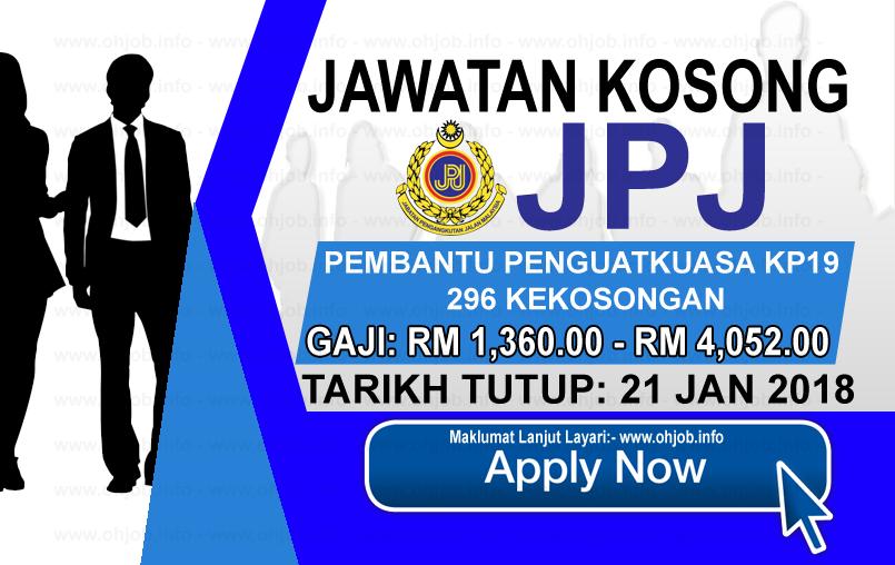 Jawatan Kerja Kosong Jabatan Pengangkutan Jalan - JPJ logo www.ohjob.info januari 2018