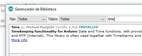 Biblioteca Time Arduino