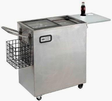 Avanti 2.4 CF Outdoor Beverage Stainless Steel Cooler Cart