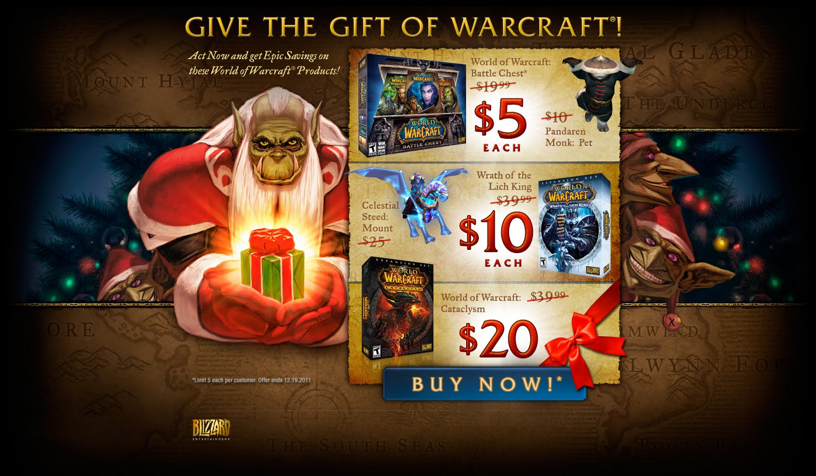fallen of icecrown give the gift of warcraft