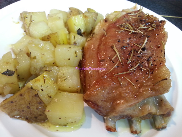 Agnello al forno con patate - Roasted lamb with potatoes