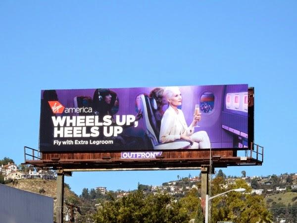 Virgin America Wheels Heels up billboard