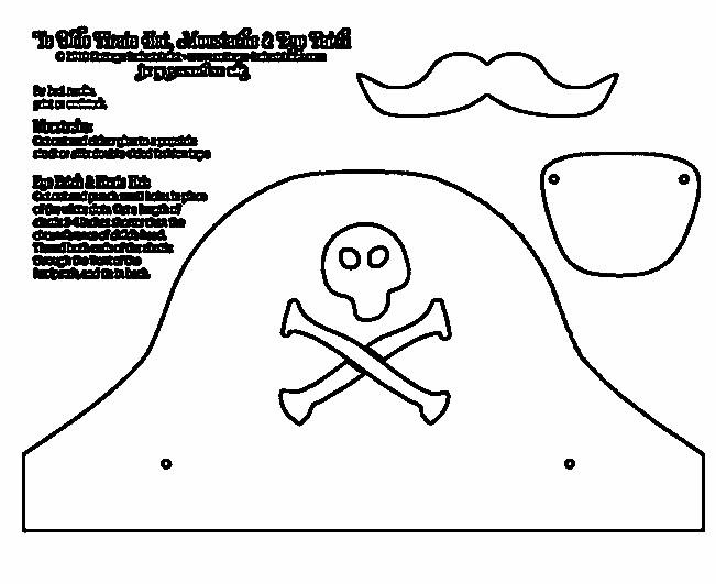 Fantástico Plantilla De Parche De Ojo Pirata Embellecimiento ...