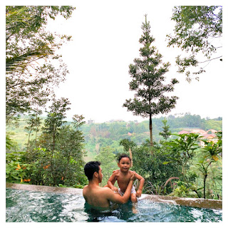 kolam renang - villa maria dago village bandung