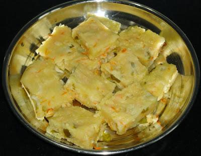 cut the dhokla into square
