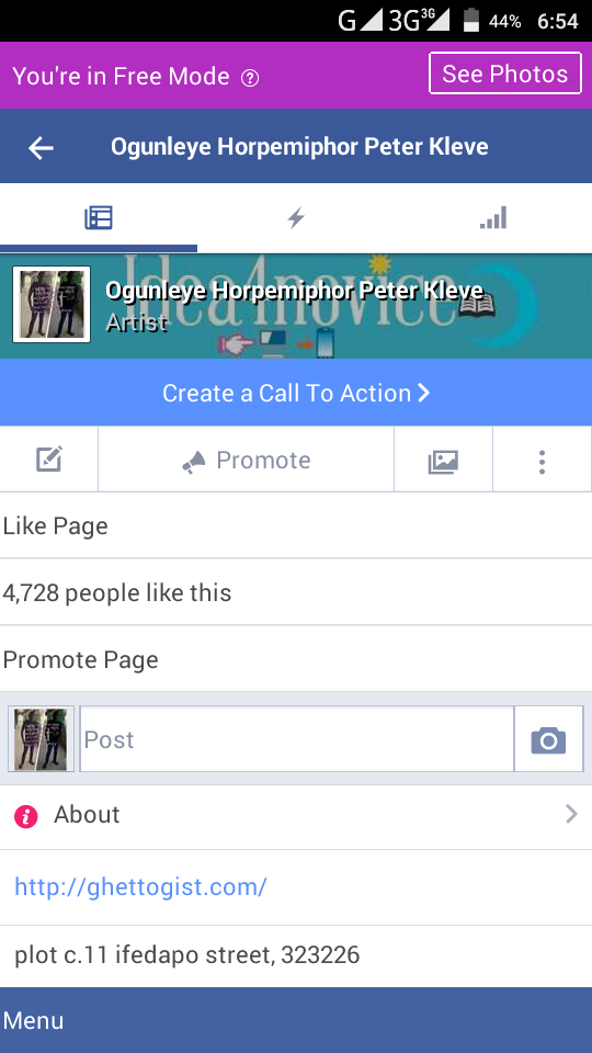 how to make facebook account to page