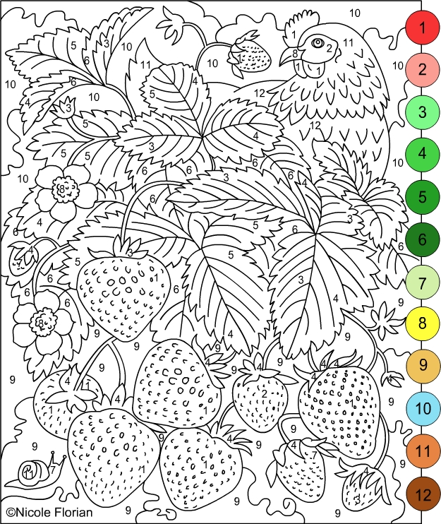 color by number for adults free