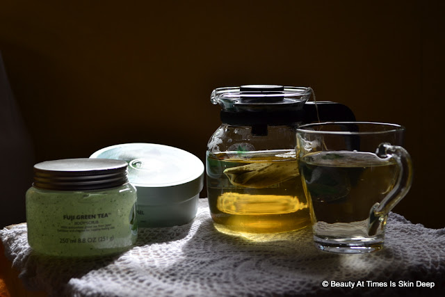 The Body Shop Fuji Green Tea Scrub and Body Butter