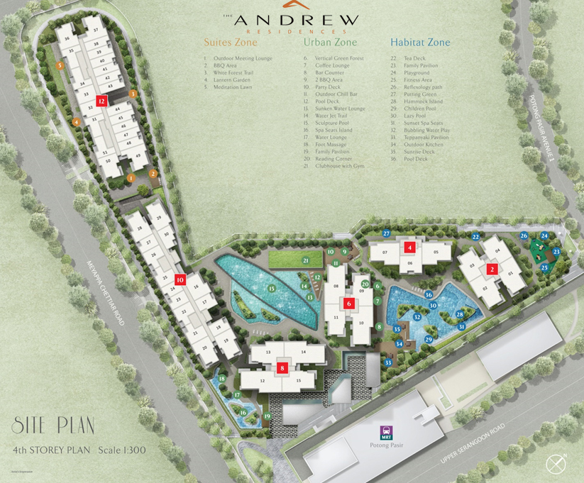 The Andrew Residences Site Plan
