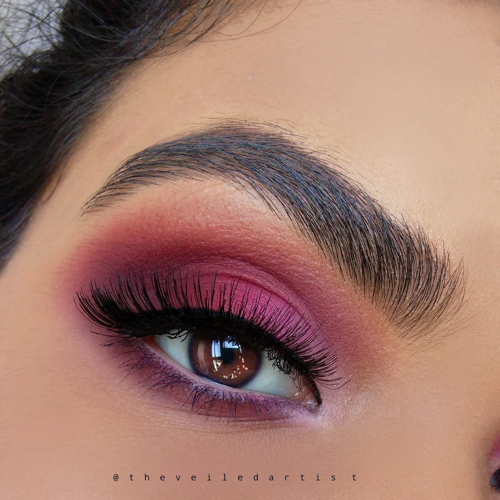 All Matte Pink Ombre Eyeshadow Tutorial - The Veiled Artist