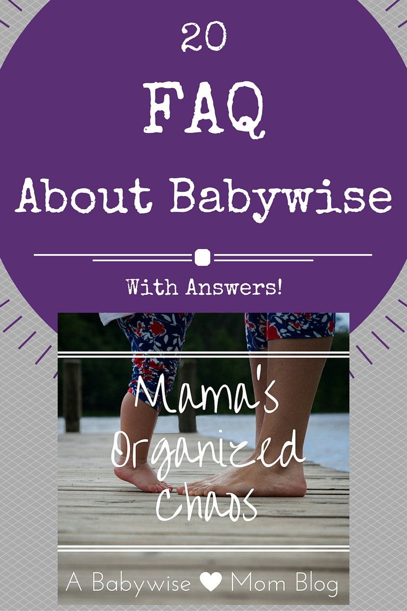 Answers to some of the most frequently asked babywise questions. #babywise