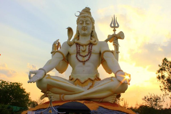 85 feet tall Shiva Statue located at Bijapur at Shivapur on Sindagi Road Karnataka.