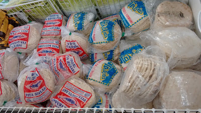 Pitta Bread in a Typical Greek Supermarket