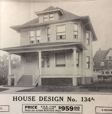 black & white catalog photo of Chicago House Wrecking Company - 1913- Model No 134