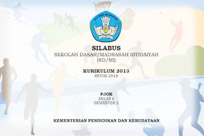 Silabus PJOK SD Kurikulum 2013 Revisi 2018 Semester 2