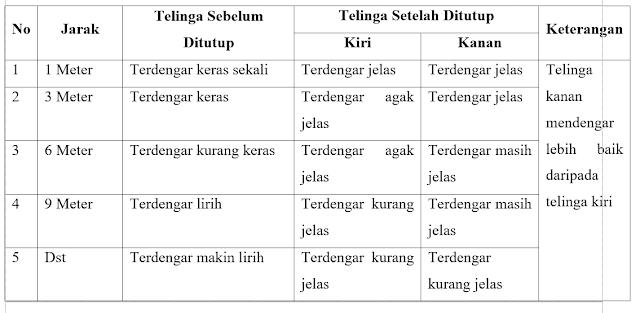 Praktikum Kepekaan Indera Pendengar Manusia (Praktikum IPA di SD)