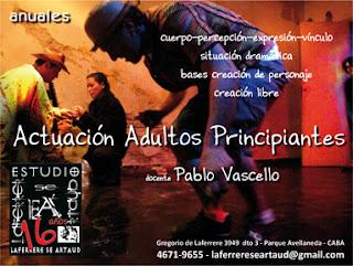 Programa Actuación Adultos Principiantes