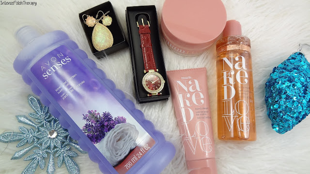 Avon - Fall Fashion Watch, Opalescent Necklace & Earring, Mark. Naked Collection