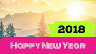 Fog Mountain Happy new year greetings live 2018