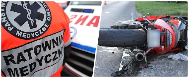 6-latek wbiegł prosto pod  nadjeżdżający motocykl. Chłopiec trafił do szpitala