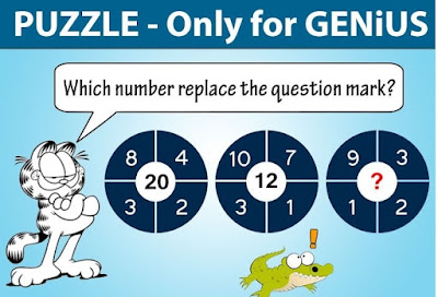 Maths Logic Circle Brain Teaser to find the missing number
