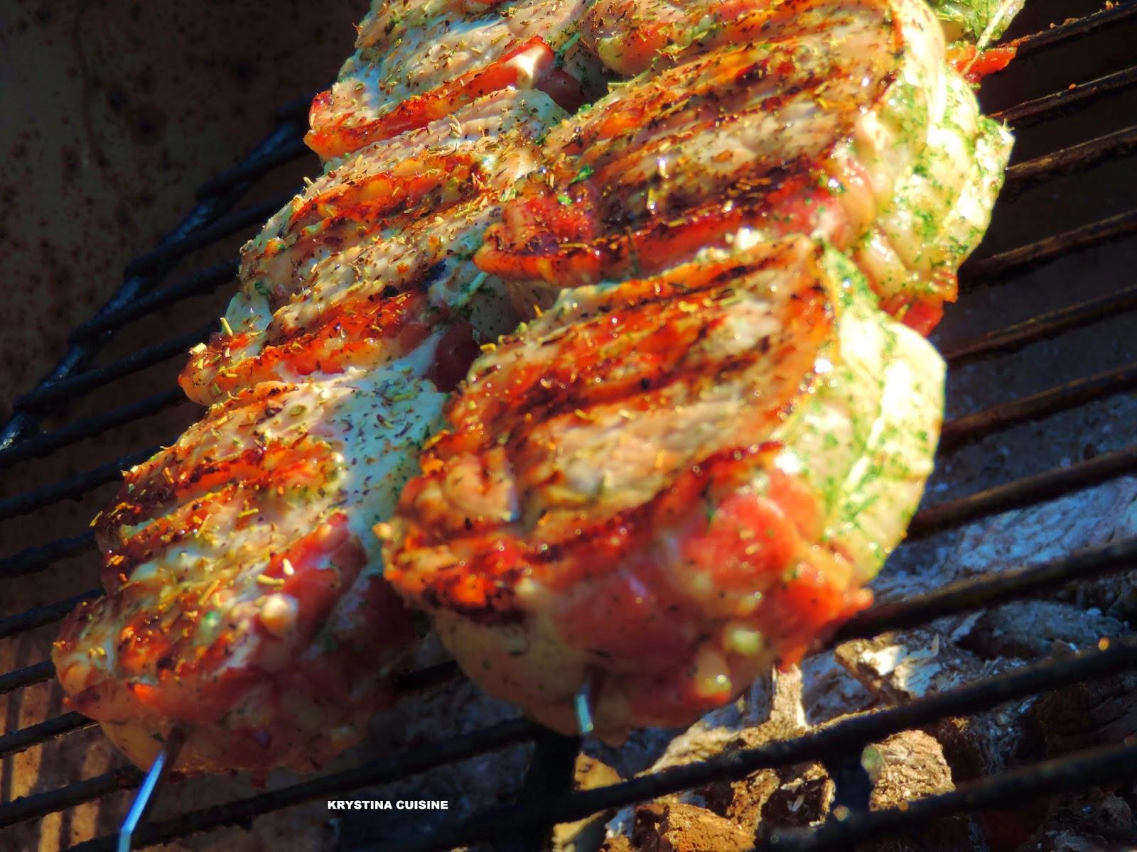 Krystina cuisine plats ensoleill s - Filet mignon de porc grille au barbecue ...