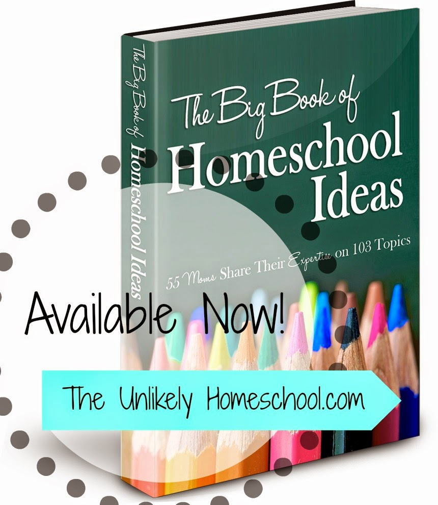 The Big Book of Homeschool Ideas: 55 Homeschooling Mommas share their expertise in 103 different areas of homeschooling. {The Unlikely Homeschool}