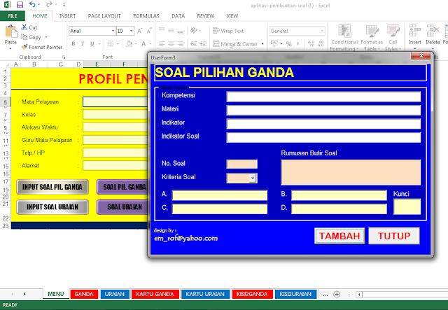 Download Aplikasi Excel Pembuatan Soal Ujian Pilihan Ganda dan Essay Praktis  Download Aplikasi Excel Pembuatan Soal Ujian Pilihan Ganda dan Essay Praktis