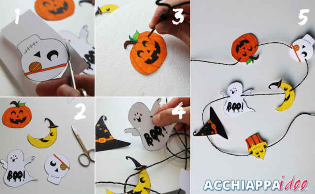 tutorial ghirlanda halloween