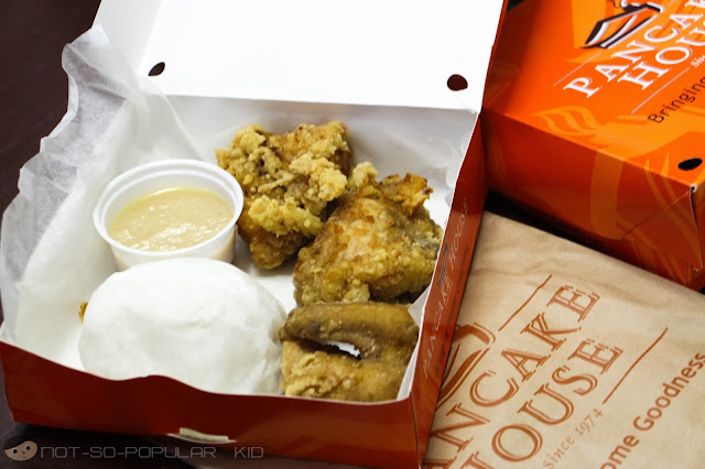 On-the-go lunch from Pancake House - Fried Chicken!