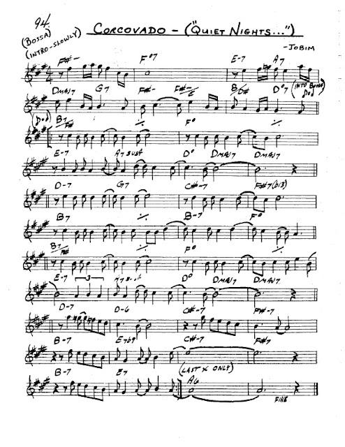 Partitura Saxofón Jobim